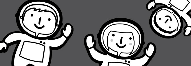 Space Cadets BW