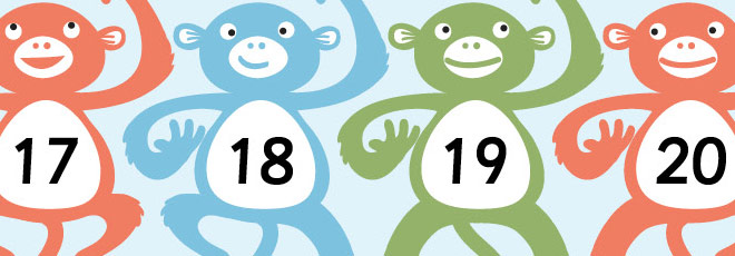 Monkey Numberline 11-20